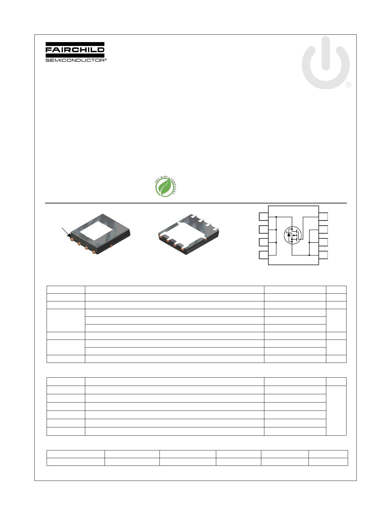 FDMS8558SDC 데이터시트 및 FDMS8558SDC PDF