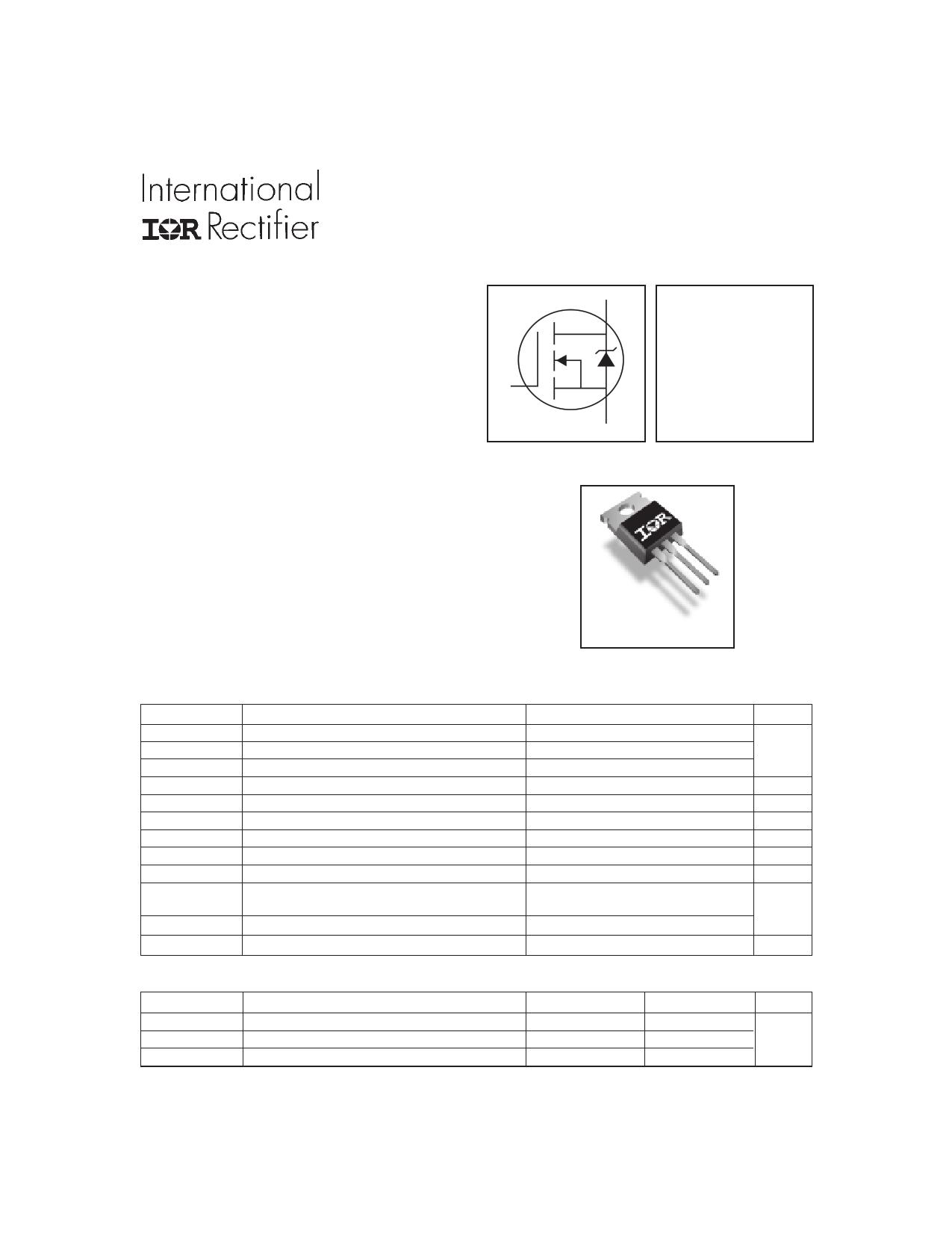 IRFZ48NPBF Datasheet, IRFZ48NPBF PDF,ピン配置, 機能