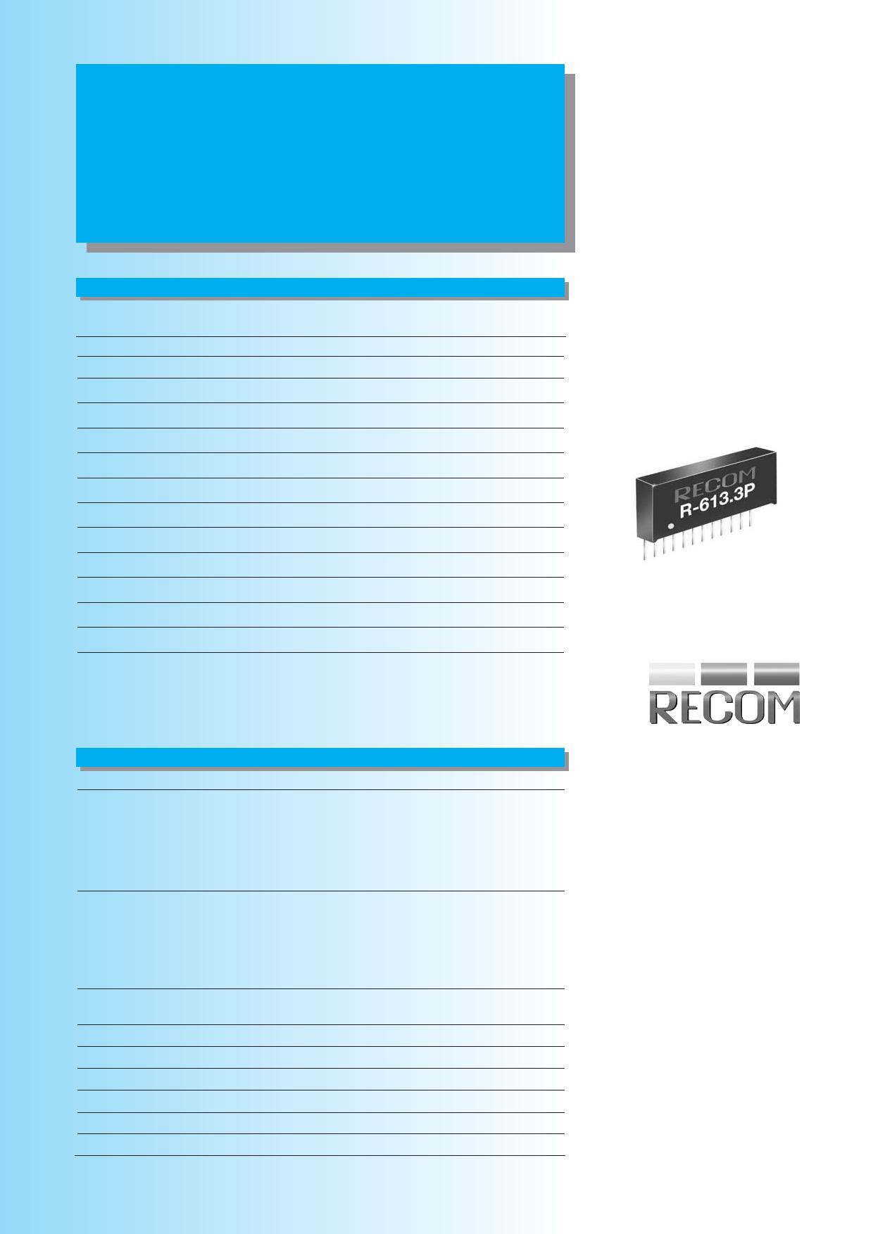 R-6xxxxD datasheet