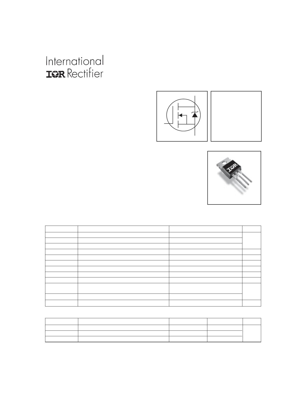 IRFB4215PbF Datasheet, IRFB4215PbF PDF,ピン配置, 機能