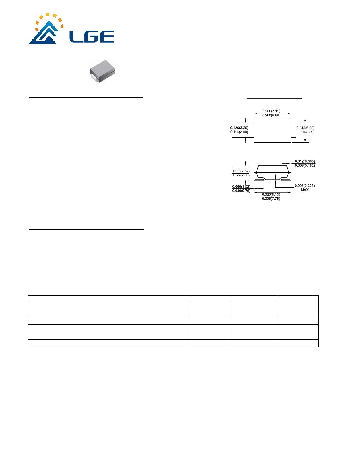 5.0SMDJ20A دیتاشیت PDF
