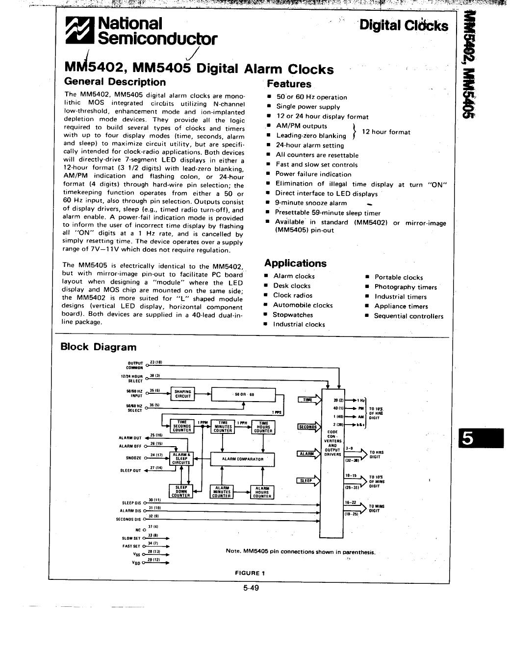 MM5405 Datasheet, MM5405 PDF,ピン配置, 機能