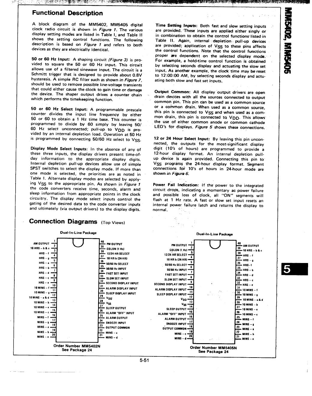 MM5405 pdf, 電子部品, 半導体, ピン配列