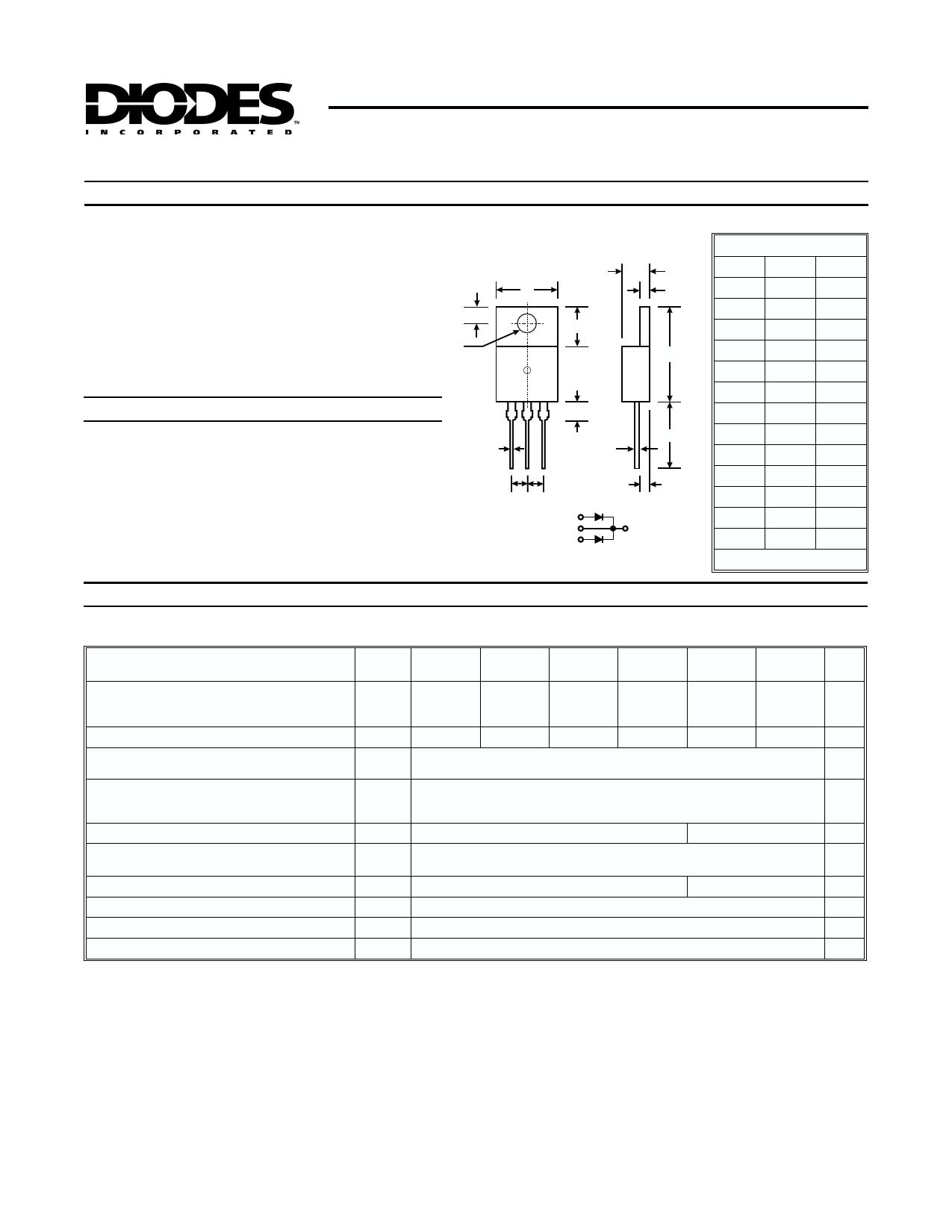 STPRF1630CT Datasheet