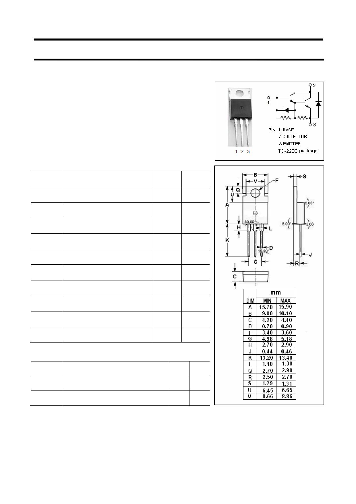 Bu806 datasheet