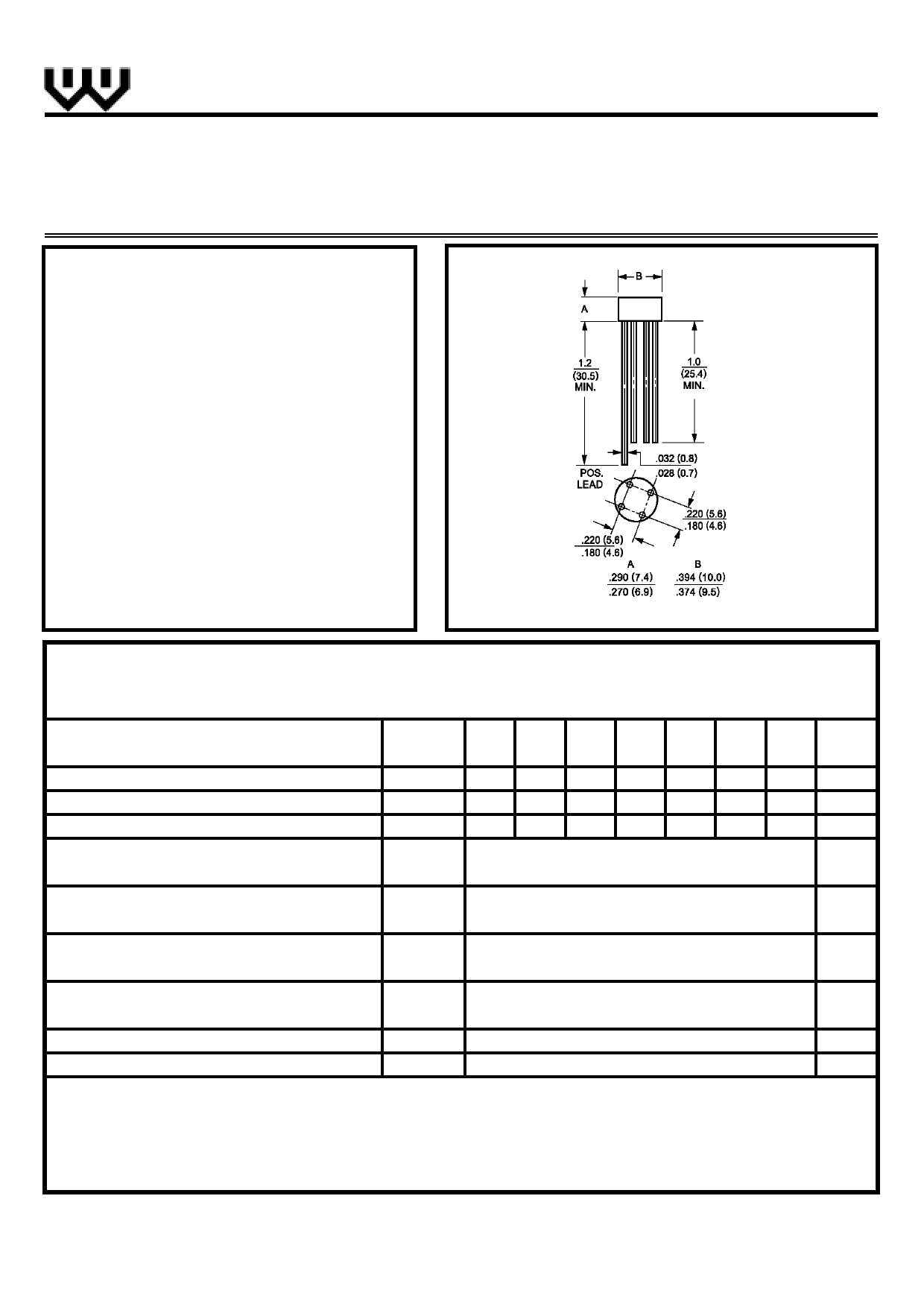 W02 datasheet