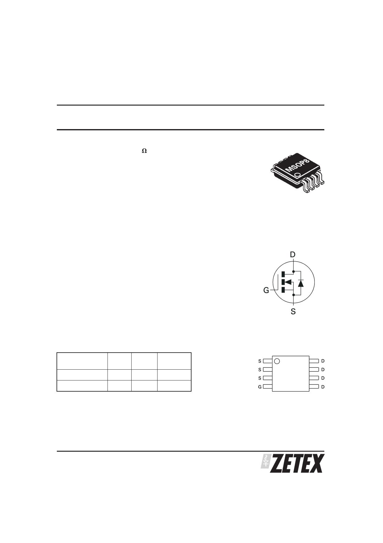 ZXMN3A02X8 دیتاشیت PDF