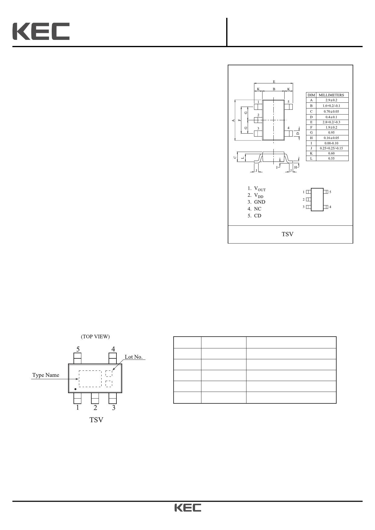 KIC7245T5 Datasheet, KIC7245T5 PDF,ピン配置, 機能