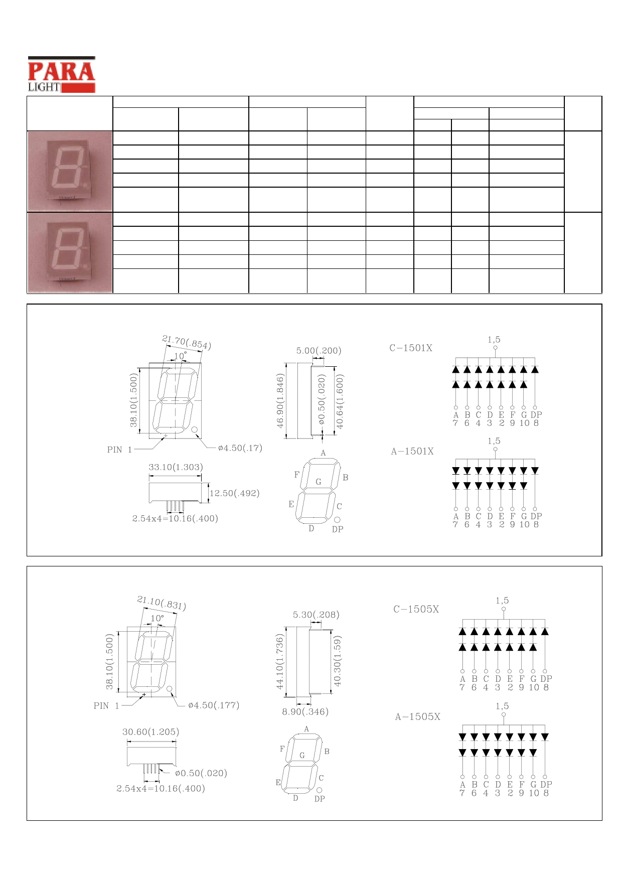 A-1505Y دیتاشیت PDF