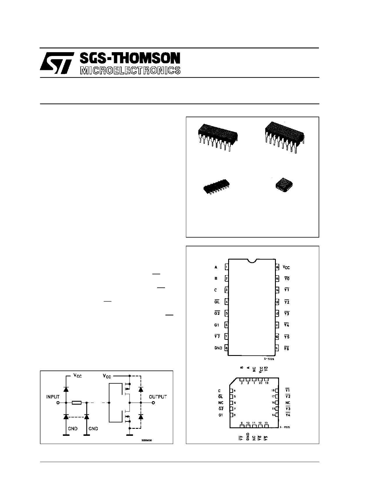 M54HC137 دیتاشیت PDF