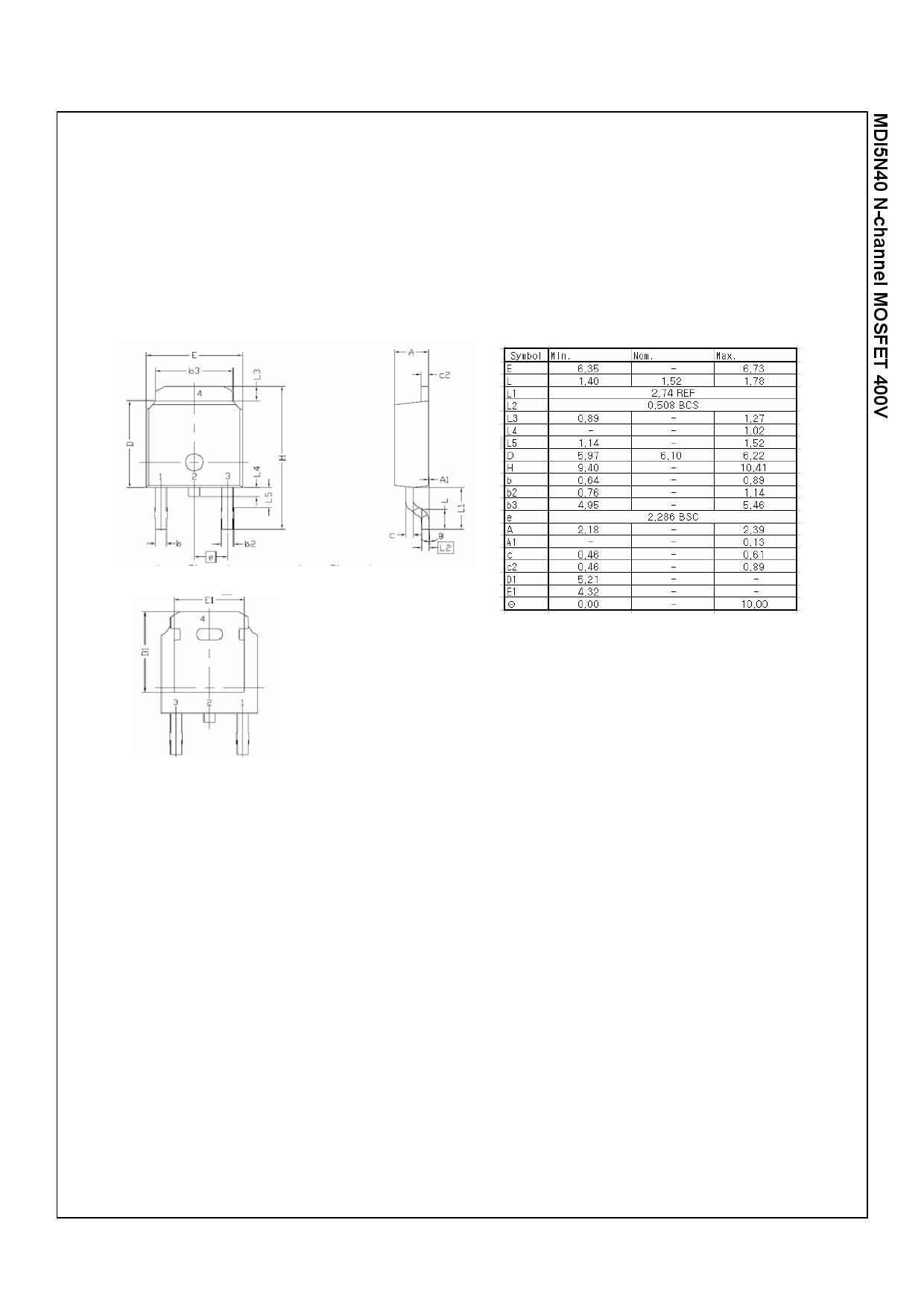 MDD5N40 電子部品, 半導体