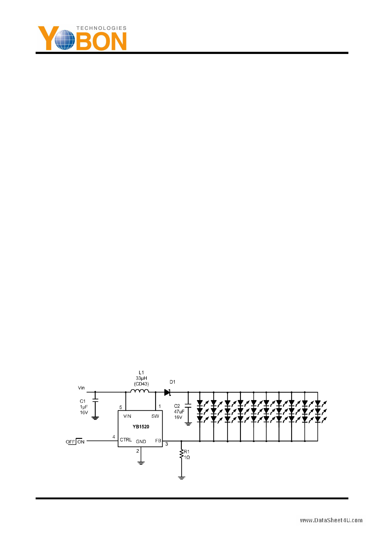 YB1520 دیتاشیت PDF