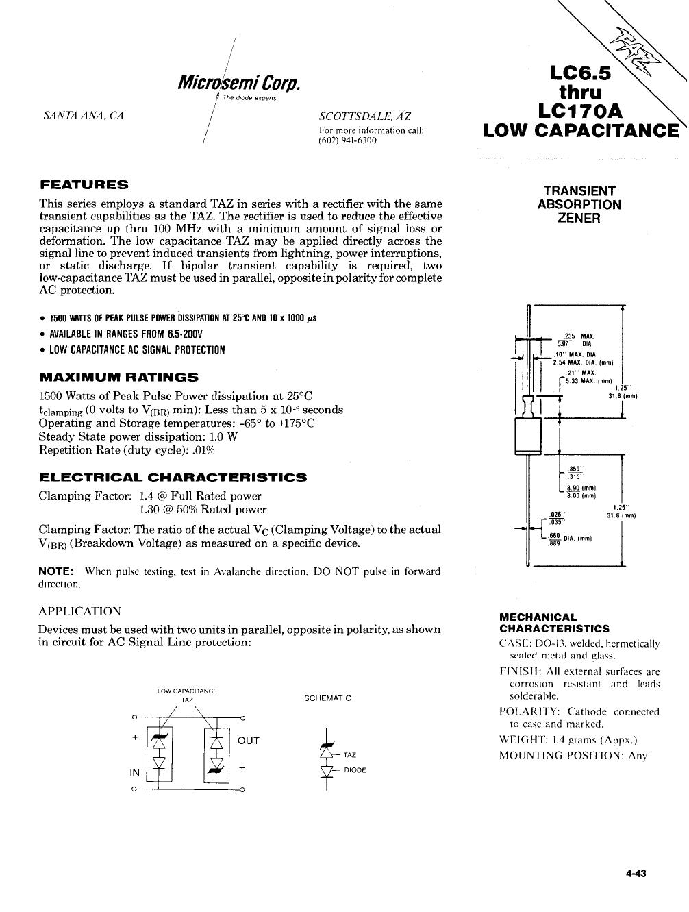 LC100A datasheet