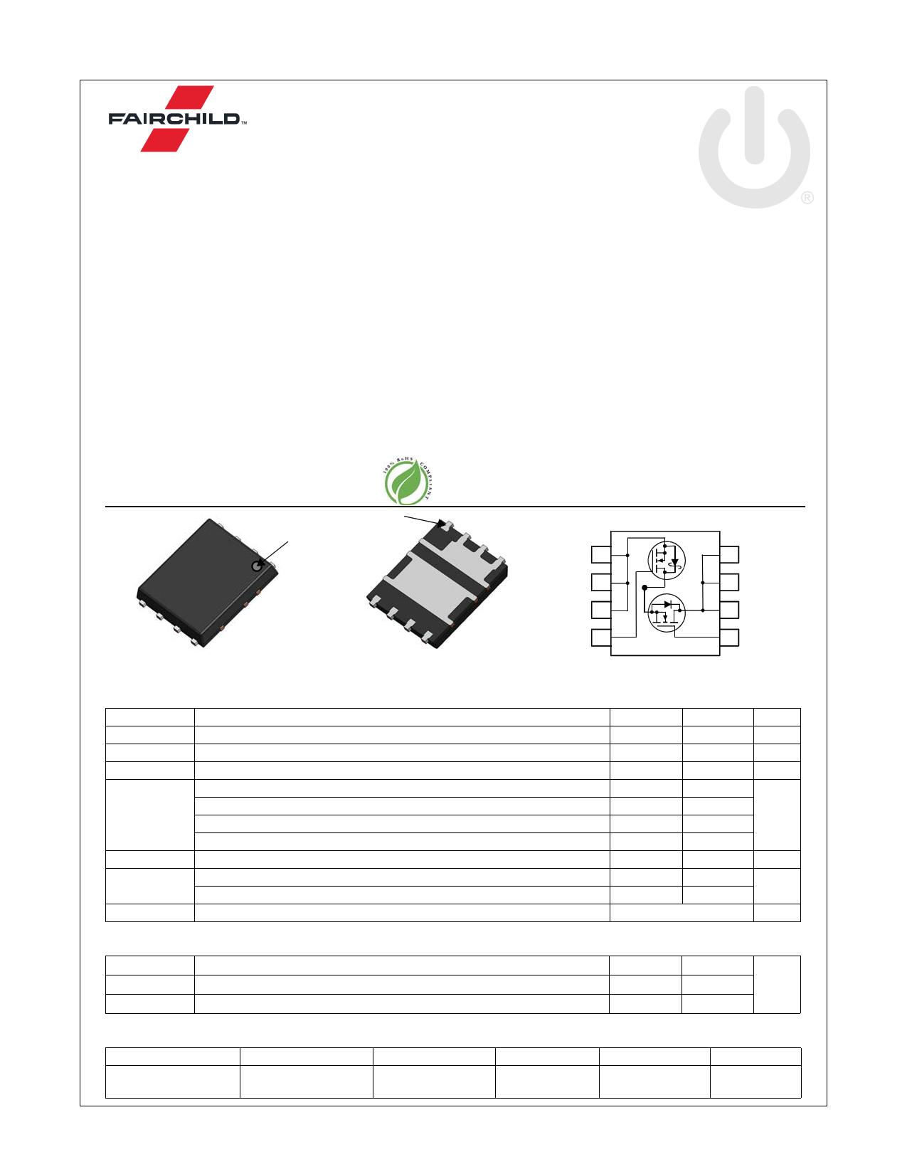FDMS3664S 데이터시트 및 FDMS3664S PDF