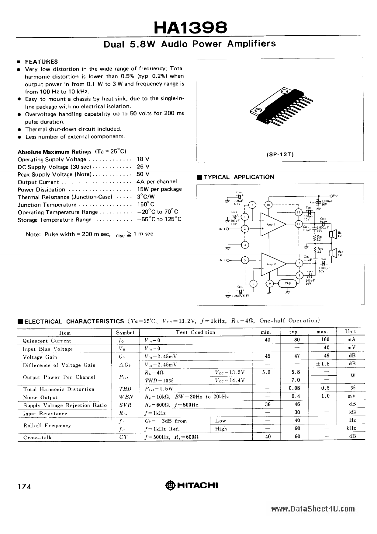 HA1398 دیتاشیت PDF