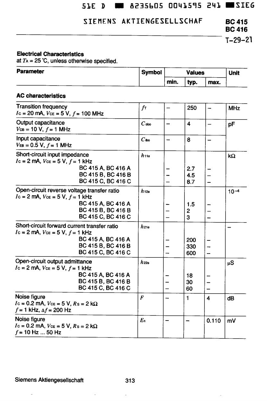 BC415C pdf, 반도체, 판매, 대치품