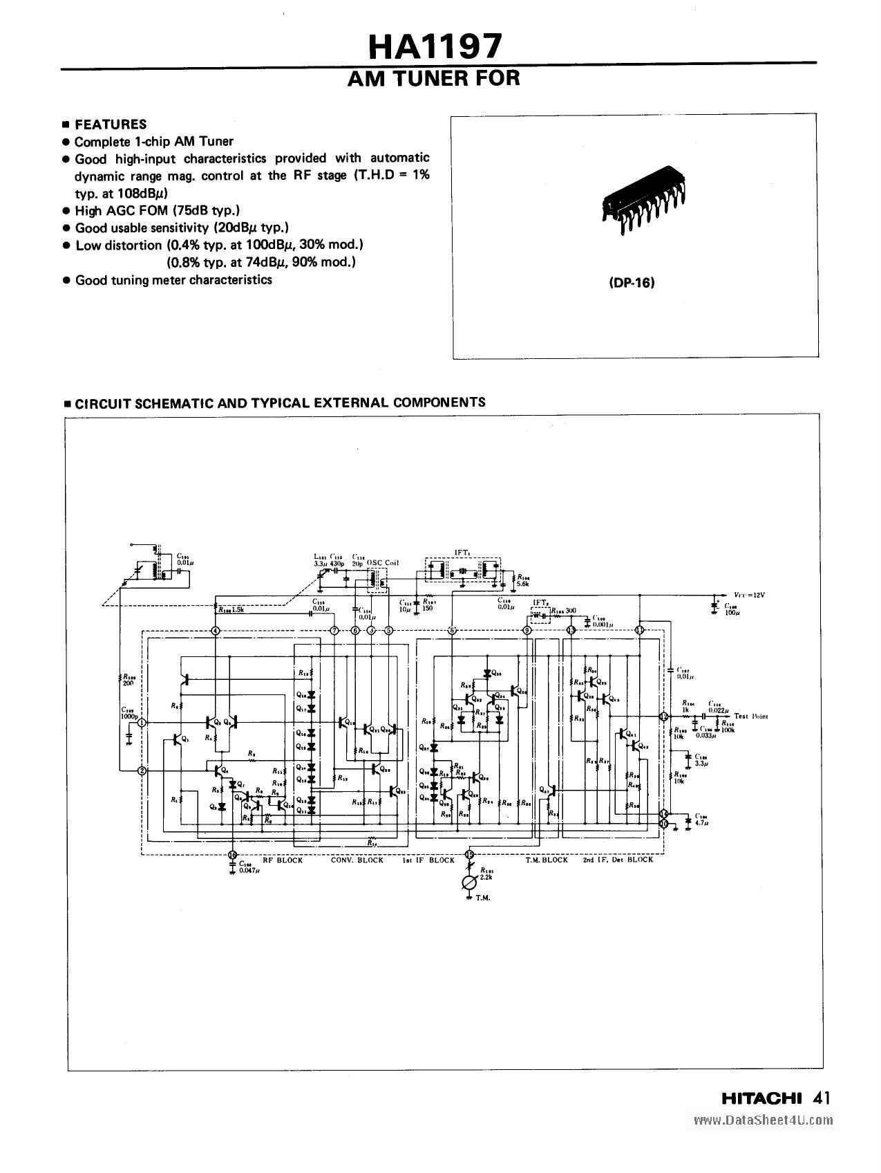 HA1197 datasheet