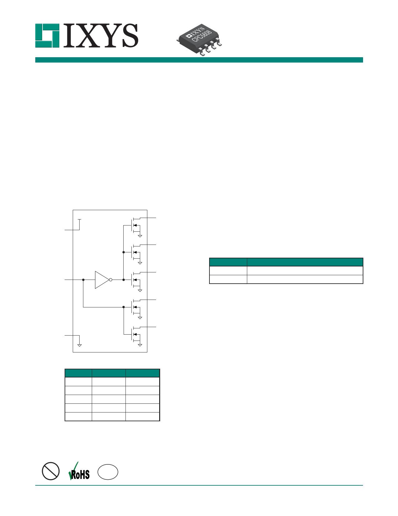 cpc5608 datasheet pdf   pinout