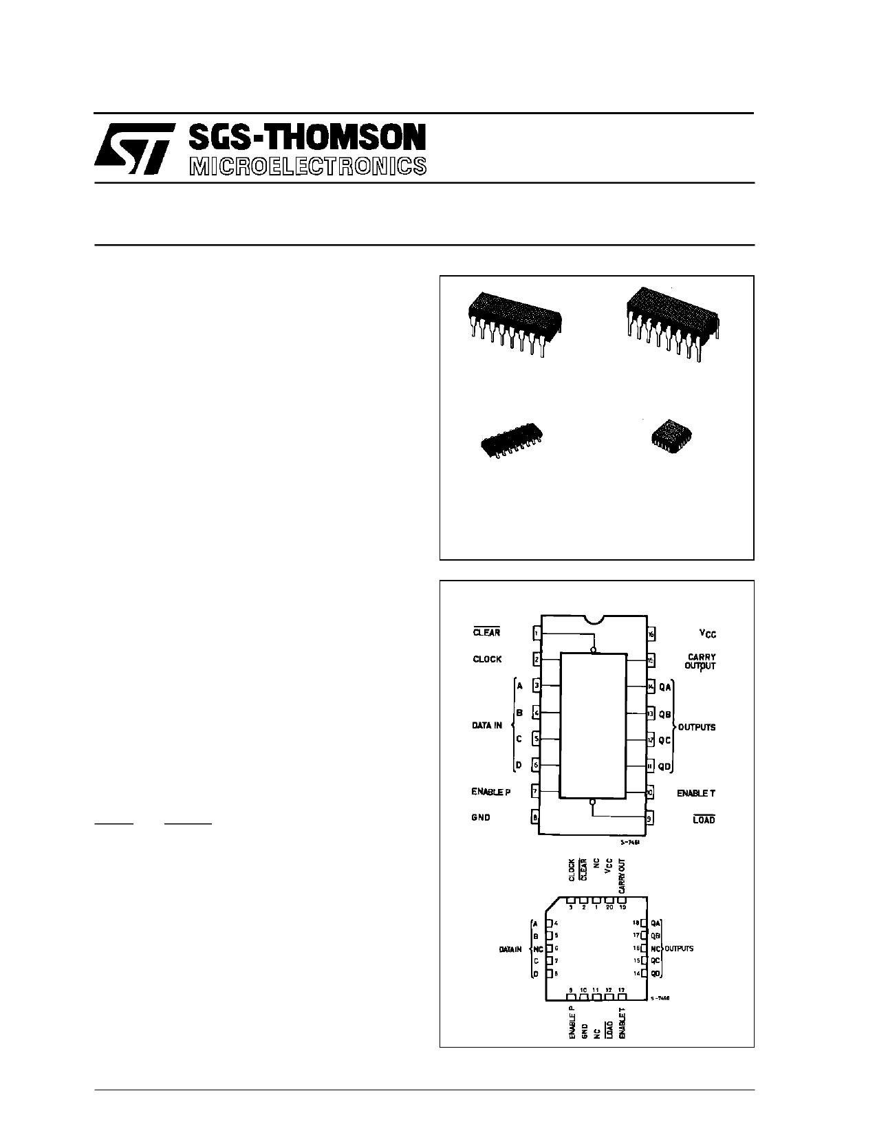 M54HC160 دیتاشیت PDF