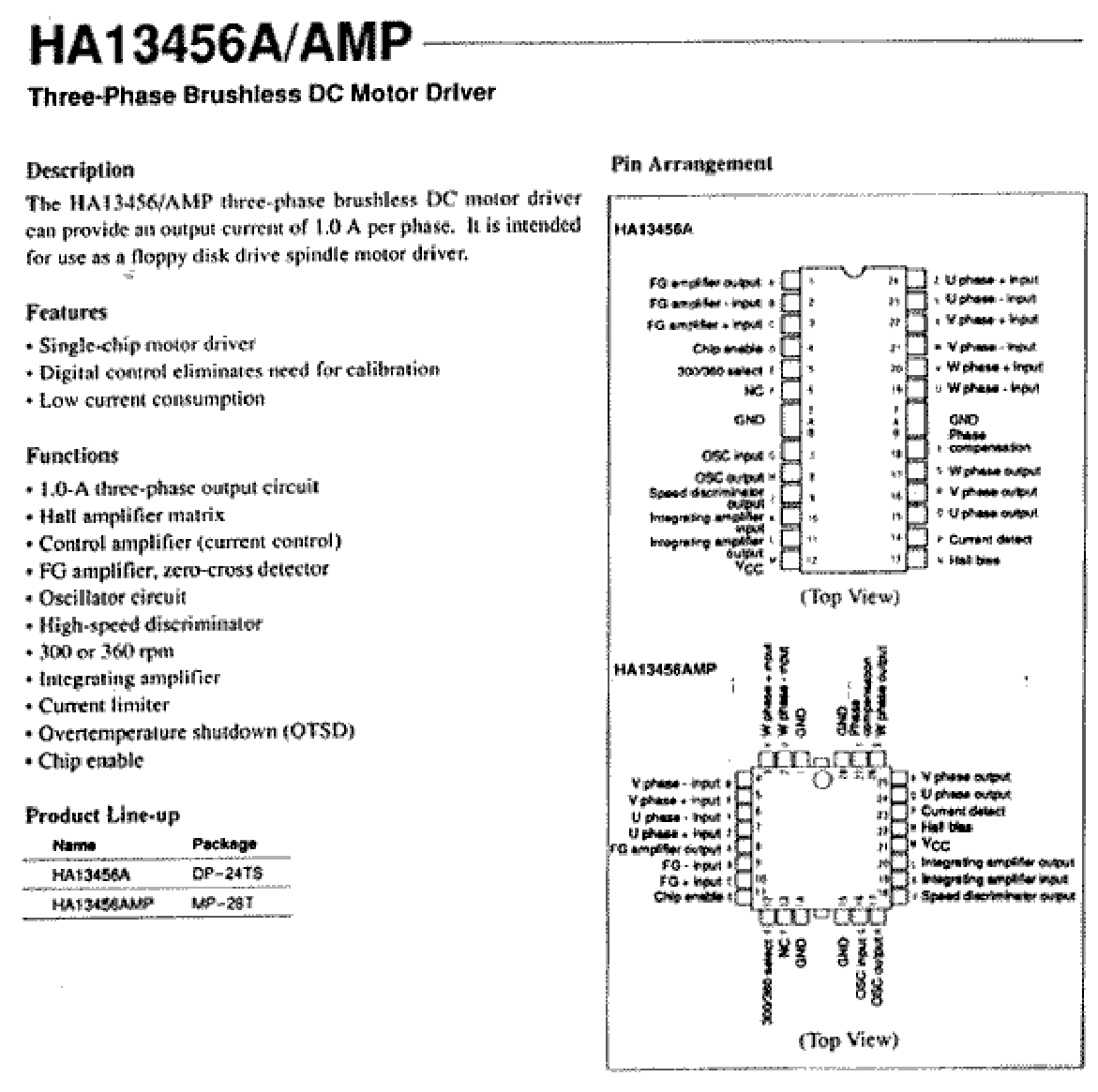 HA13456AMP دیتاشیت PDF