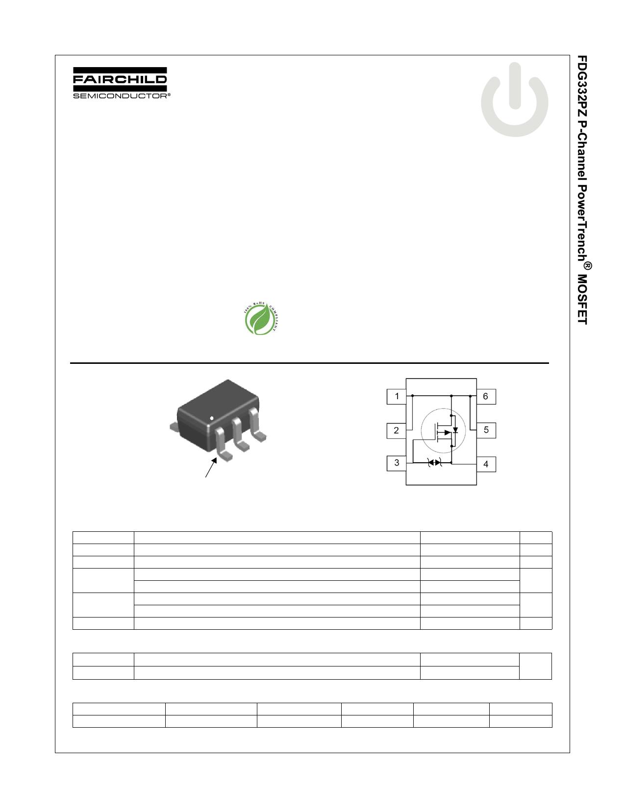 FDG332PZ 데이터시트 및 FDG332PZ PDF