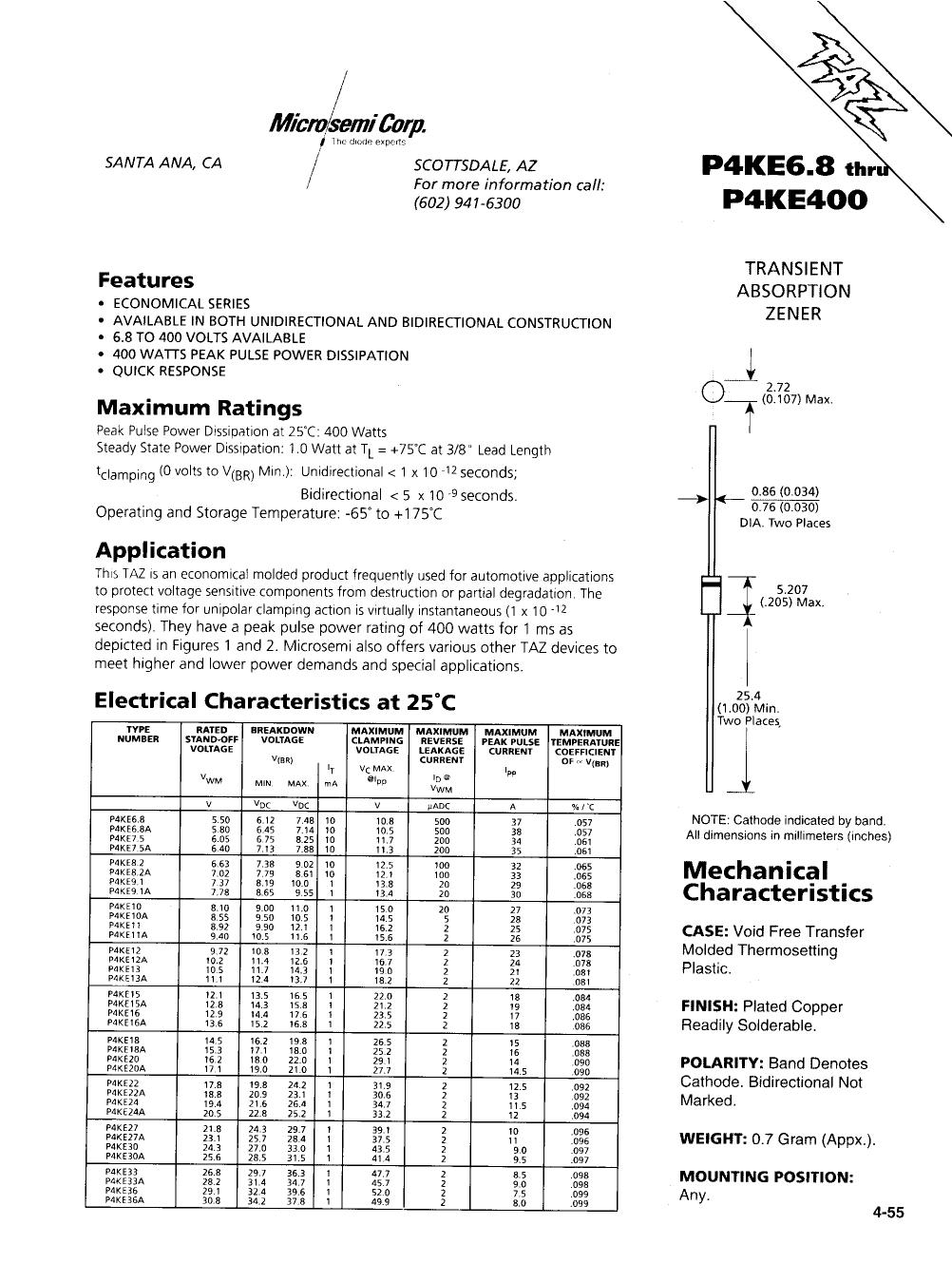 P4KE30A datasheet
