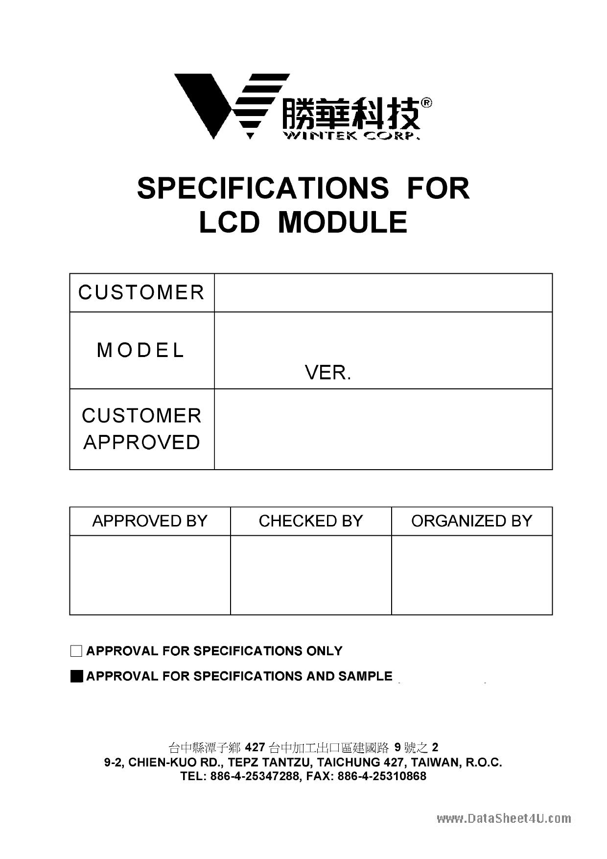 WD-C1602Q-6YLYC datasheet