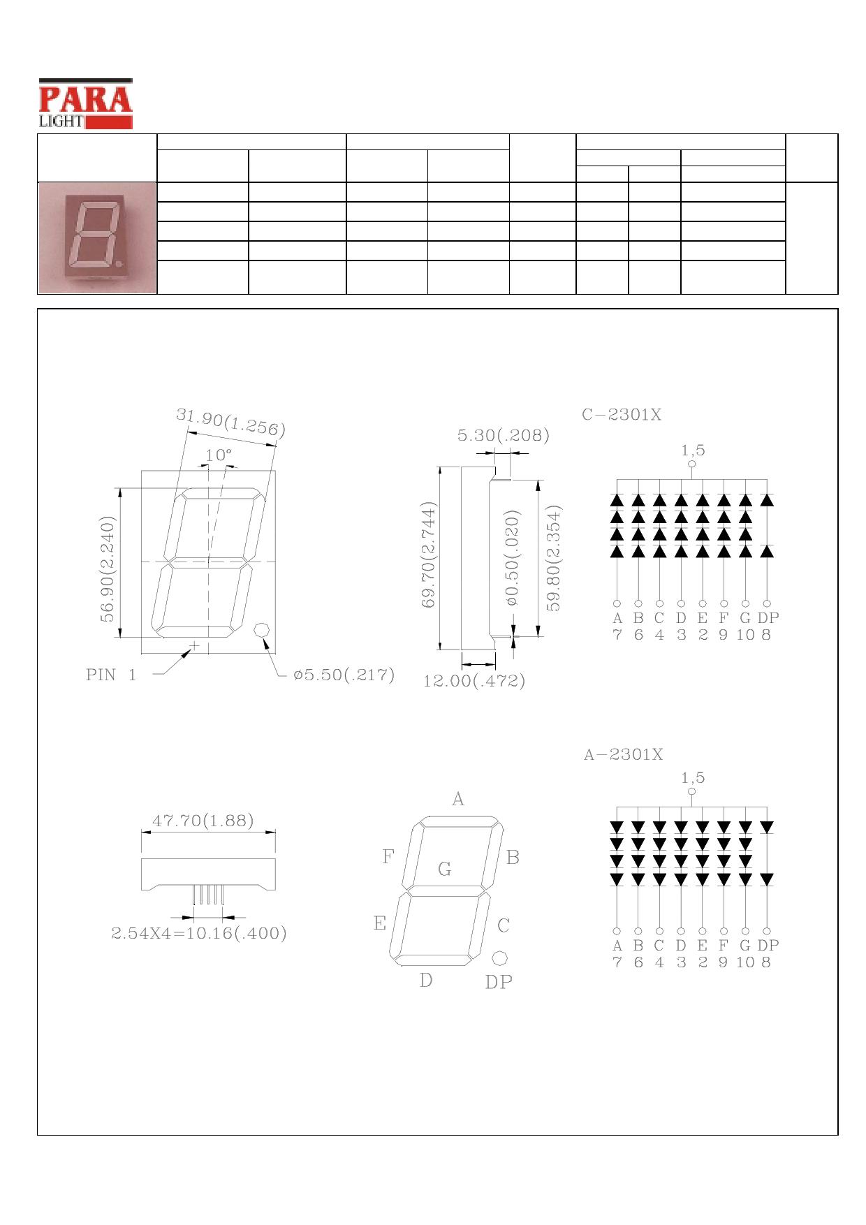 C-2301SR دیتاشیت PDF