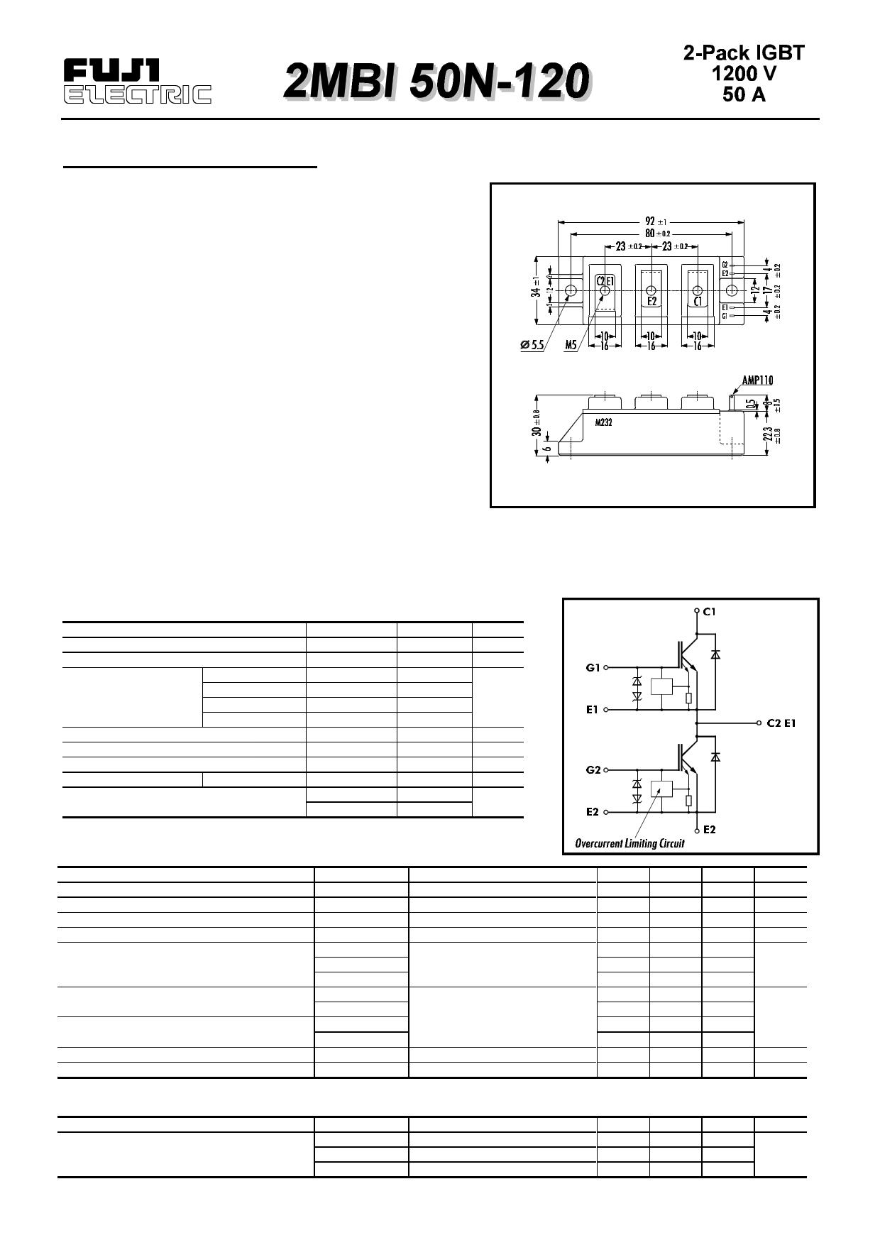 2MBI50N-120 دیتاشیت PDF
