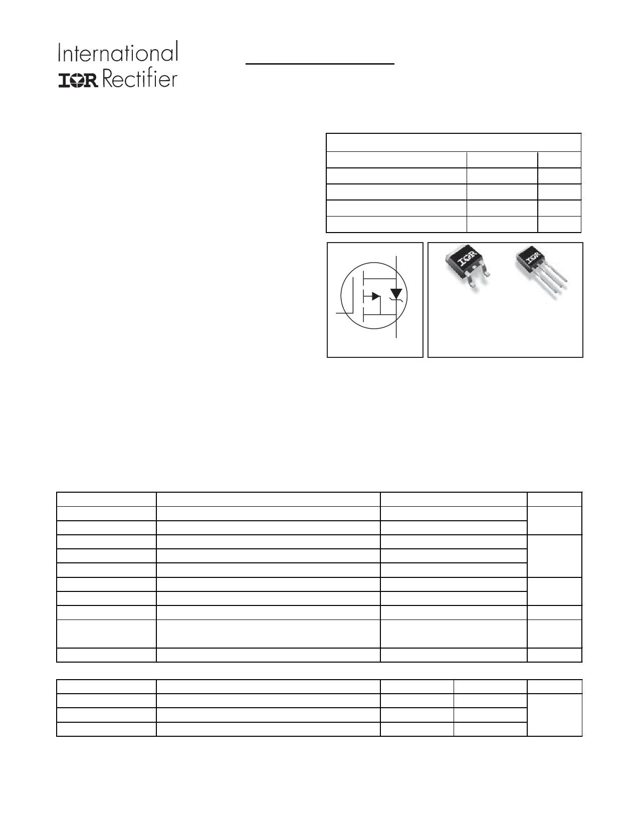 IRLU9343 Datasheet, IRLU9343 PDF,ピン配置, 機能