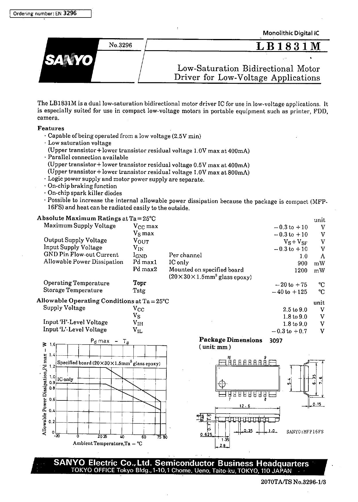 LB1831M datasheet