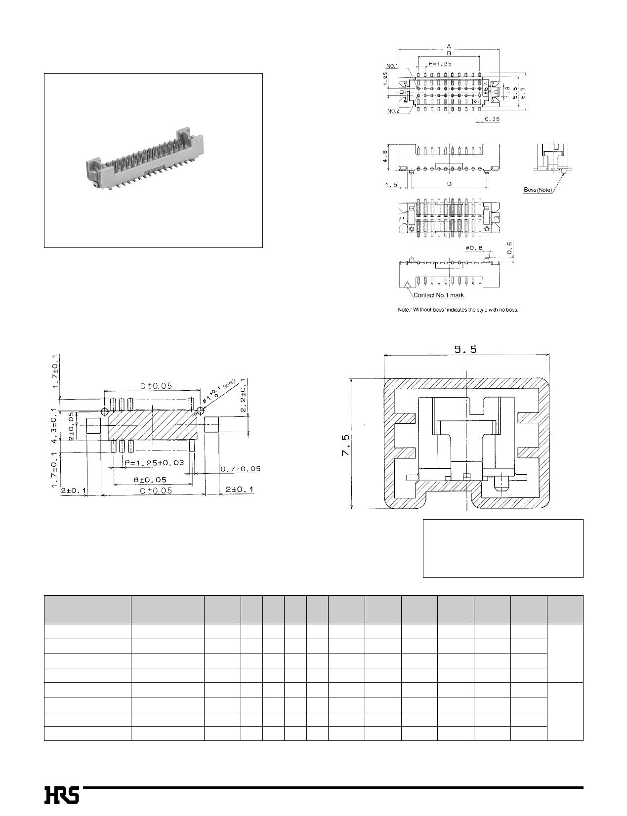 DF13B-9P-1.25H pdf, 数据表
