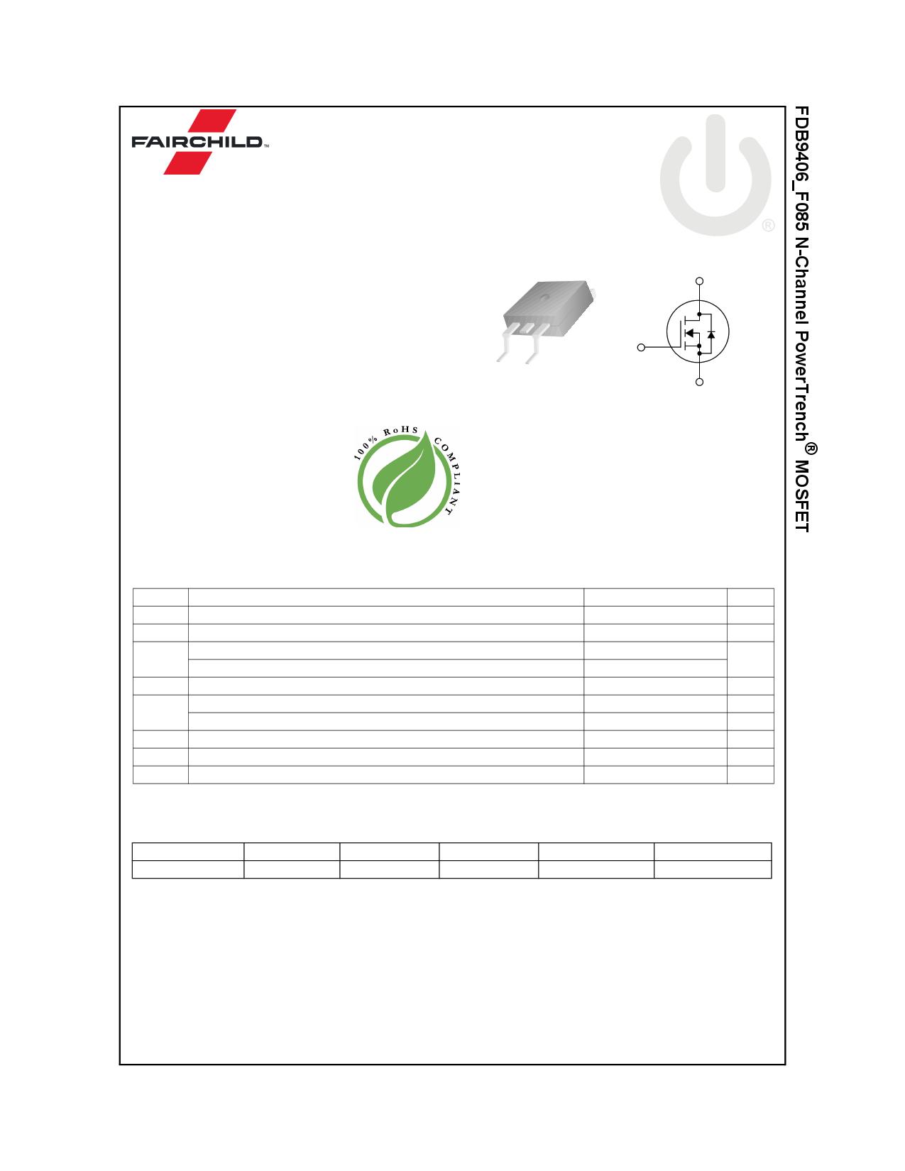 FDB9406_F085 datasheet, circuit