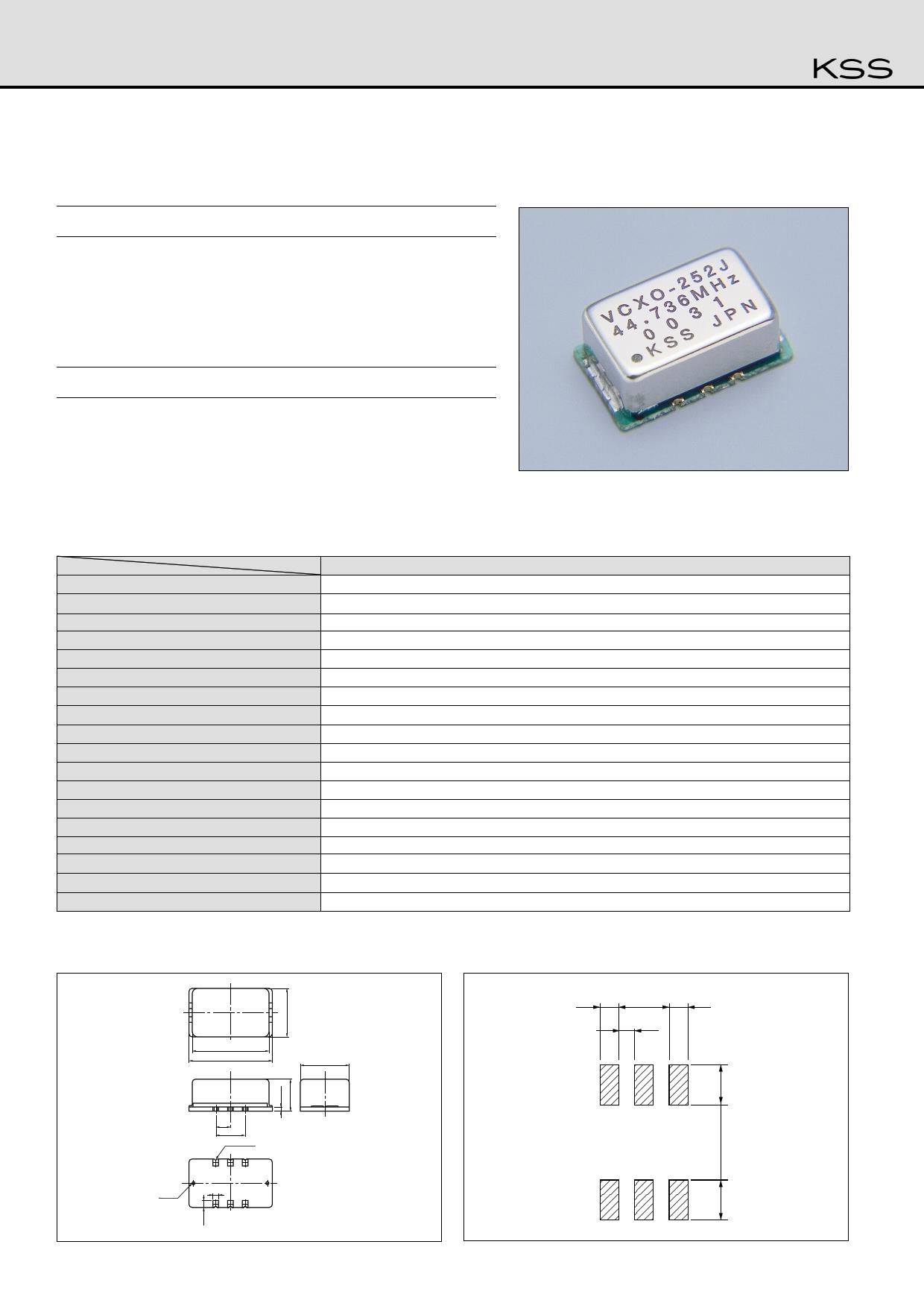 VCXO-252J datasheet
