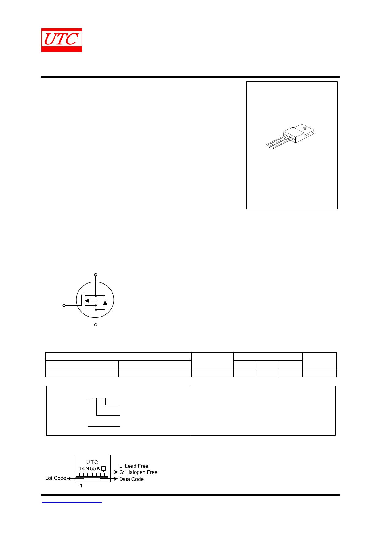 14N65K-MT datasheet