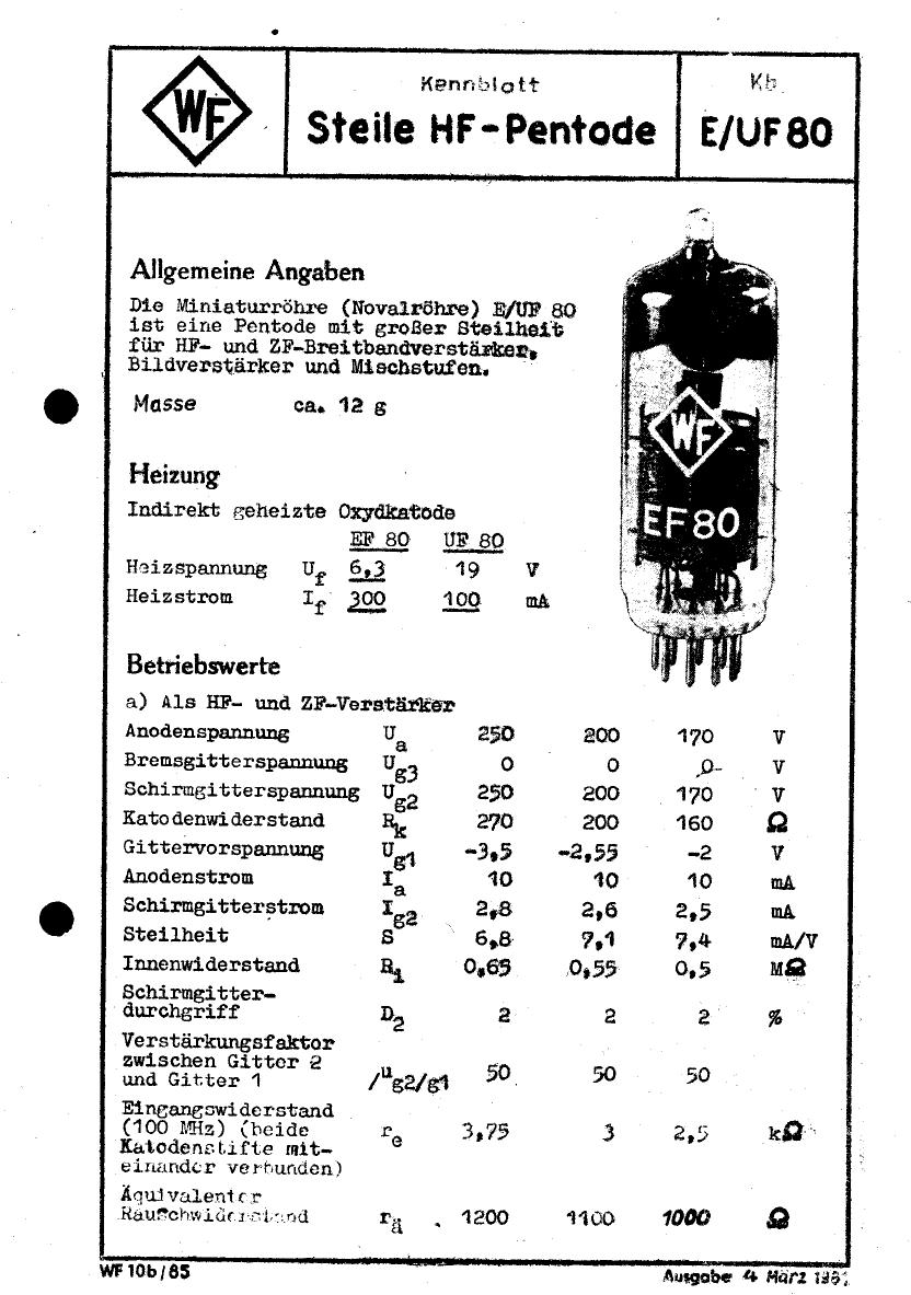 UF80 datasheet