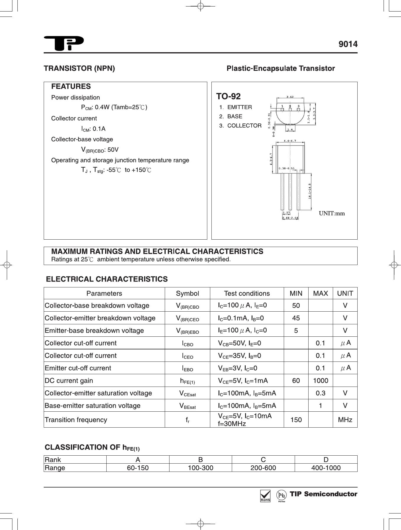 9014 دیتاشیت PDF