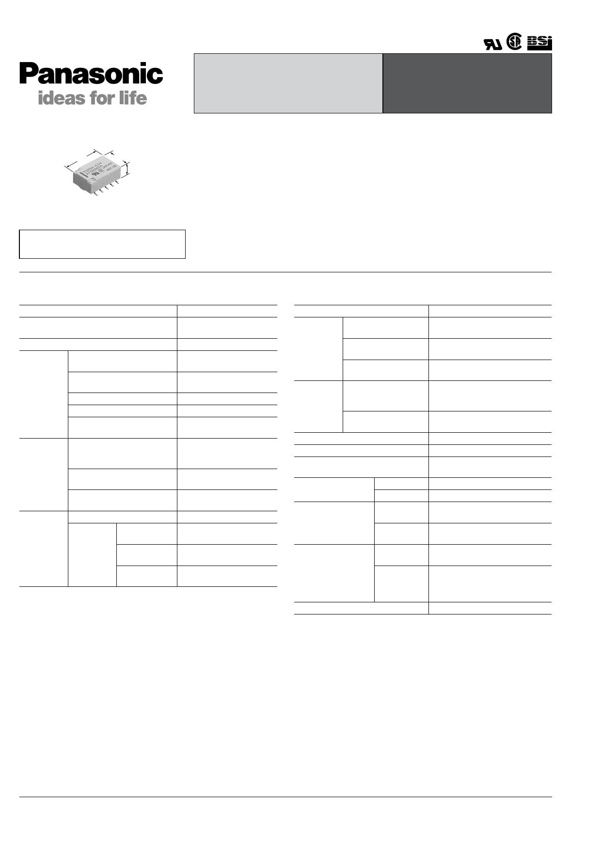 TQ2SS-L2-12V 데이터시트 및 TQ2SS-L2-12V PDF