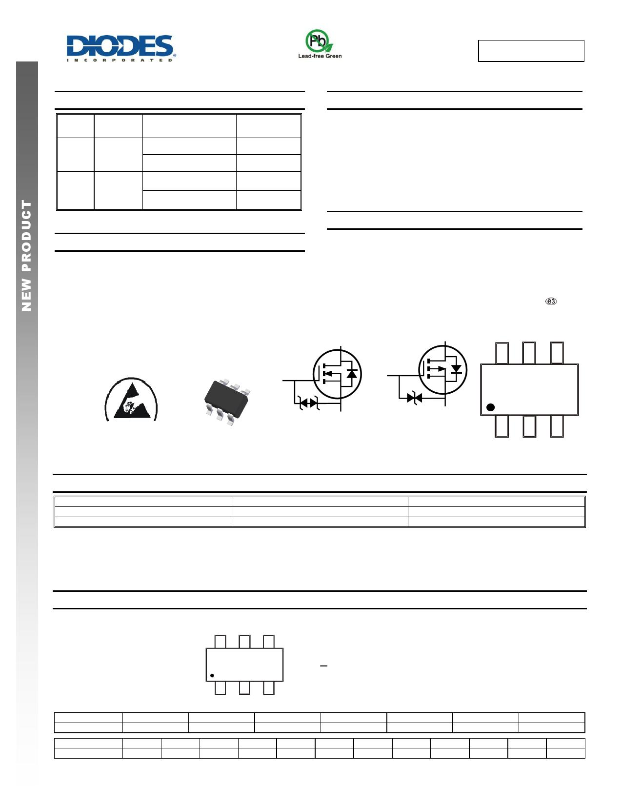 DMC3400SDW datasheet