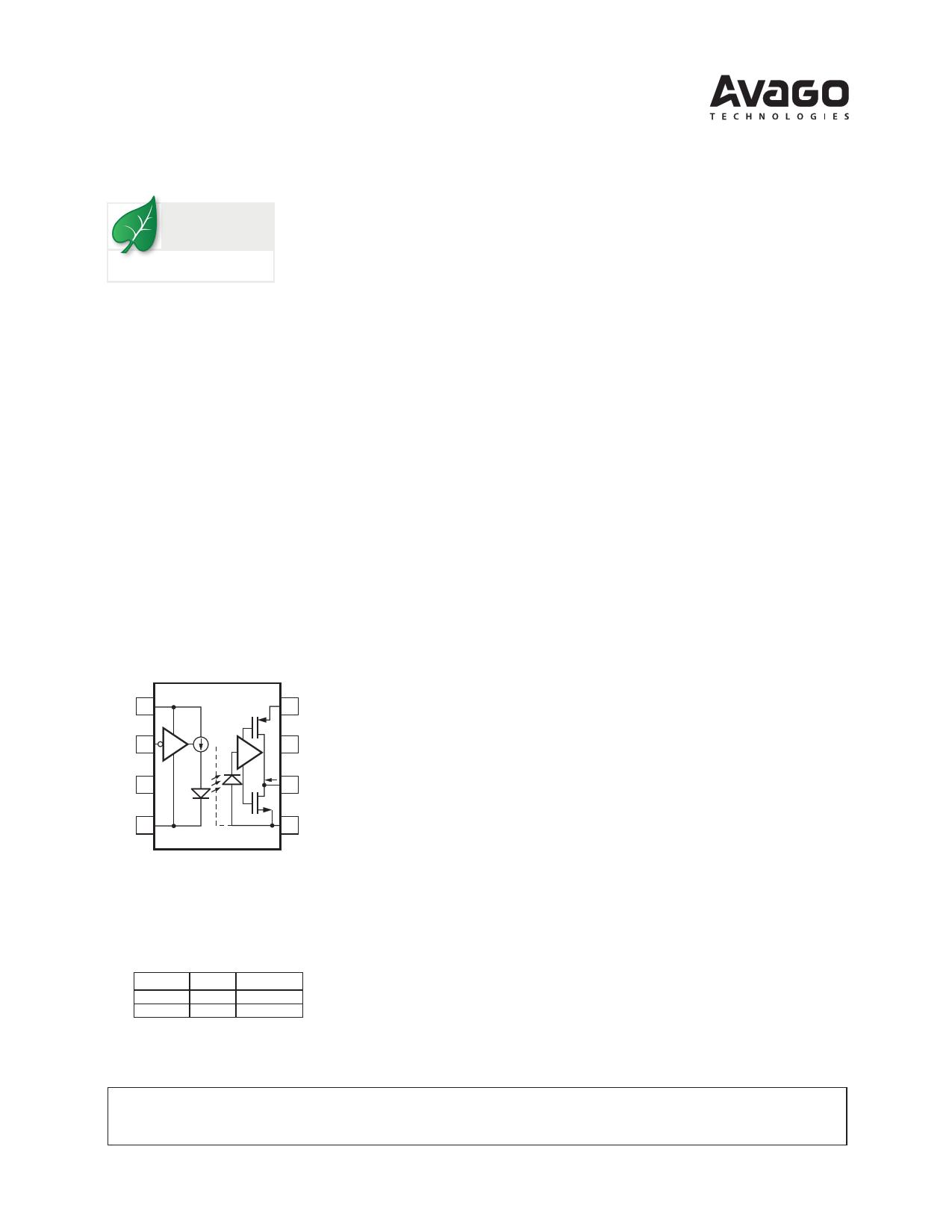 HCPL-7723 Datasheet, HCPL-7723 PDF,ピン配置, 機能