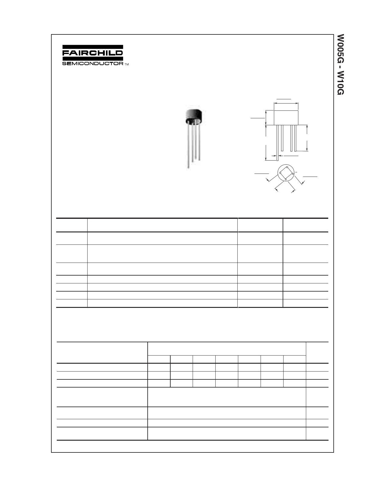 W005G datasheet