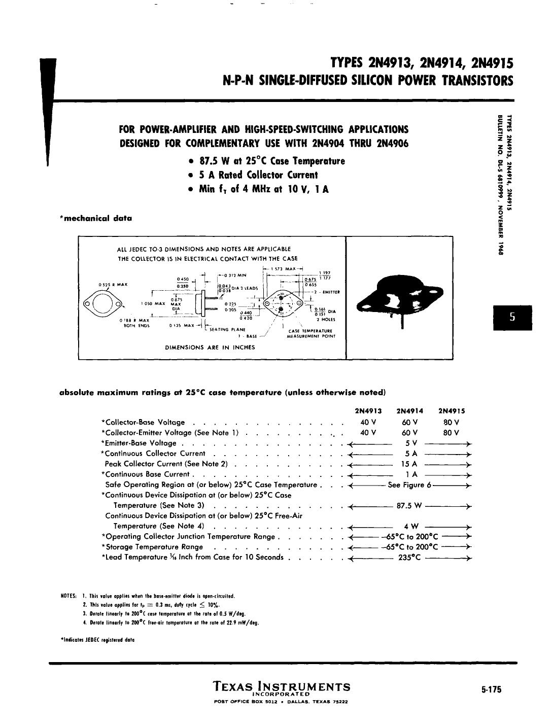 2N4915 دیتاشیت PDF