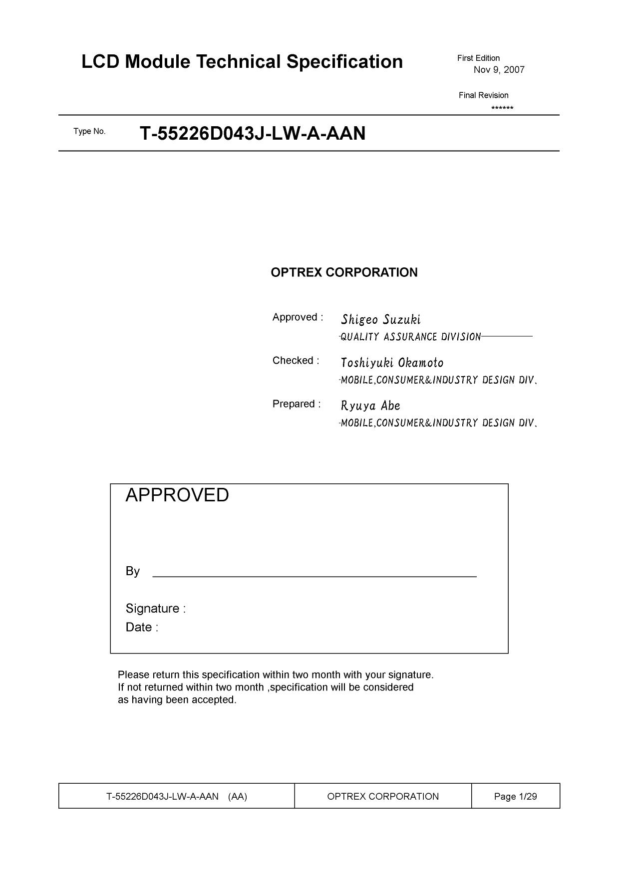 T-55226D043J-LW-AAN دیتاشیت PDF
