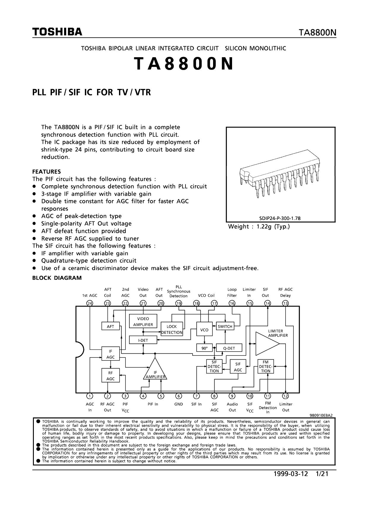 TA8800N datasheet