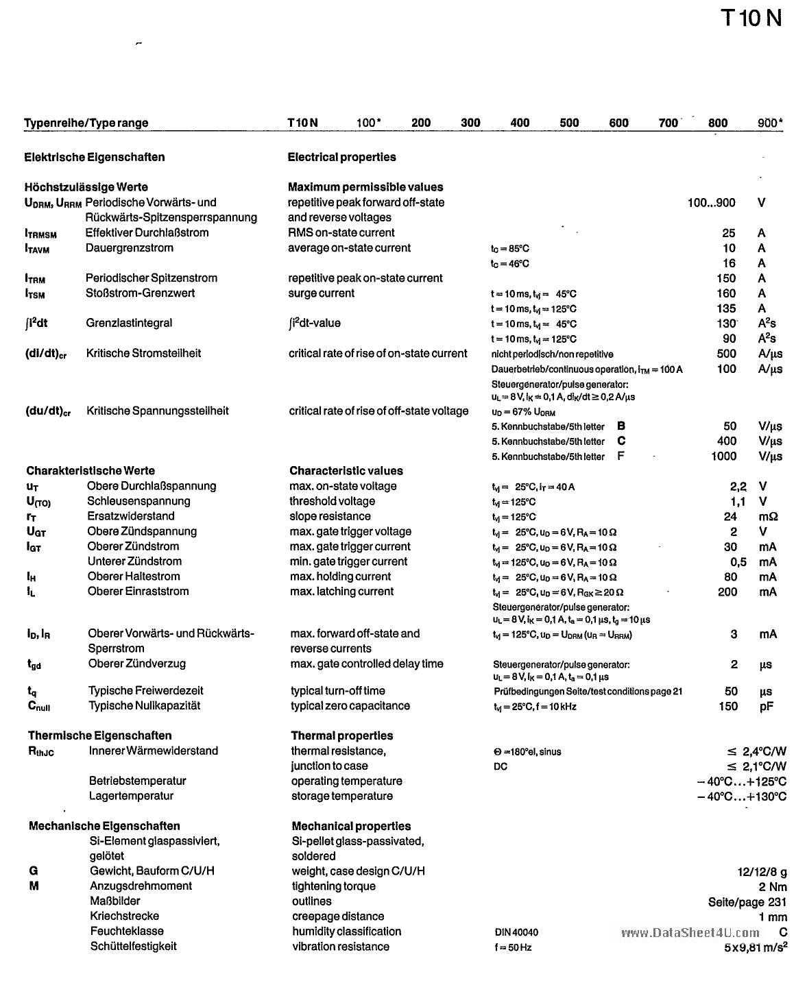 T10N700 datasheet