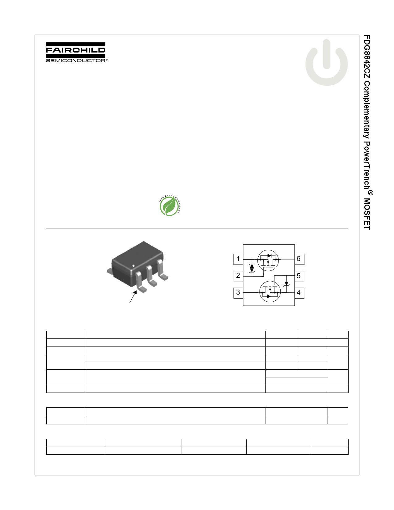 FDG8842CZ 데이터시트 및 FDG8842CZ PDF
