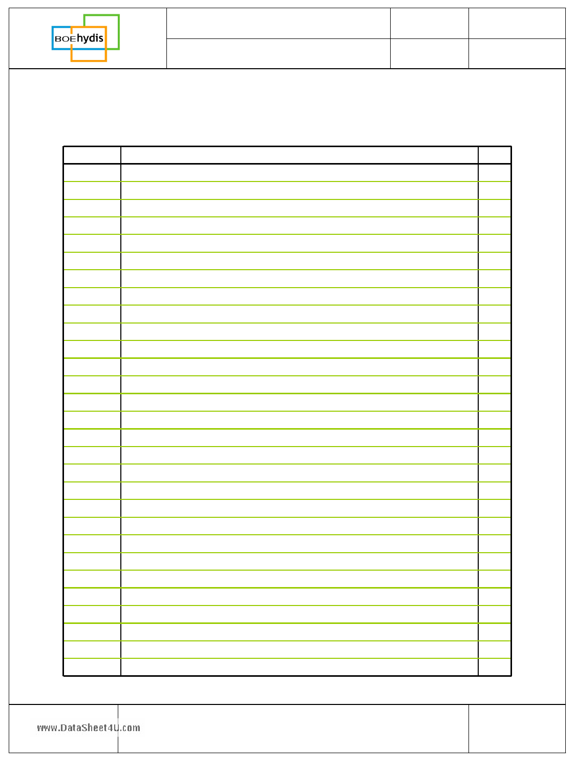 HV056WX1-100 pdf, ピン配列