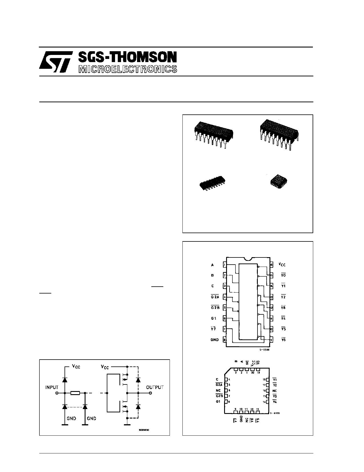 M54HC138 دیتاشیت PDF