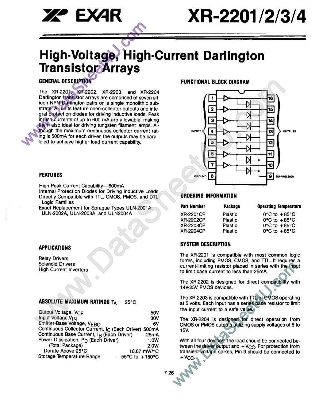 xr2203 datasheet pdf   pinout