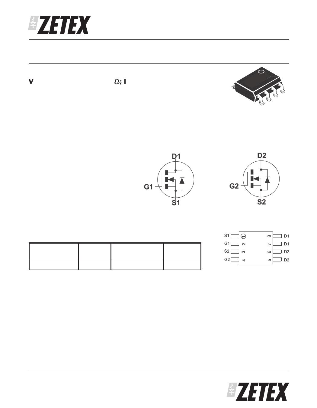 ZXMD65N03N8 دیتاشیت PDF